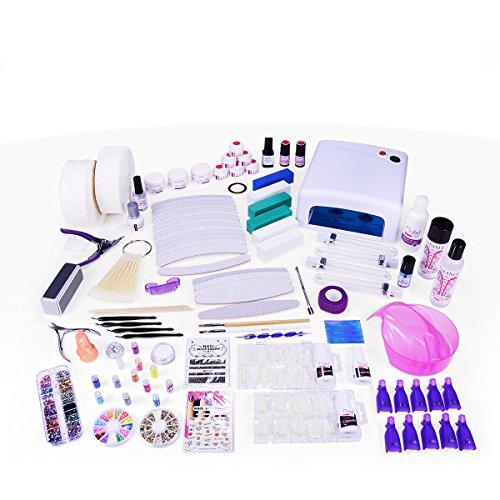 Ocibel - Kit XXXL Manucure Faux Ongles 36W Gel UV - Monophase - Manucure, Faux Ongles et Nail Art