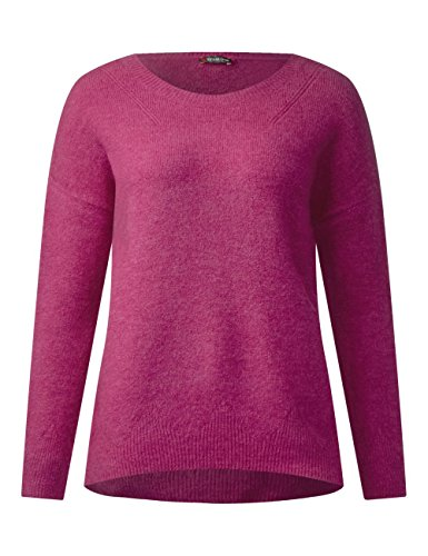 Street One Damen Pullover Rosa (Sparkling Berry Melange 11234)