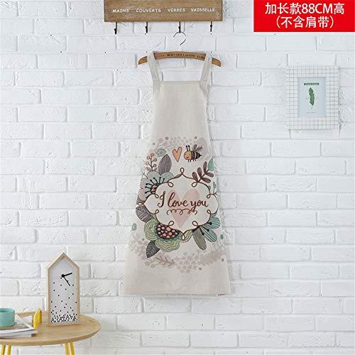 YXDZ Süßes Paar Ärmellose Stoff Küche Zu Hause Kochschürze Weibliche Heimat Wasserdicht Und Ölbeständig Taille Erwachsenes Kleid C 60 * 88Cm
