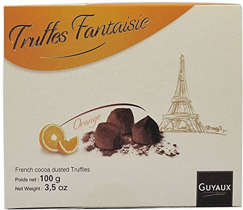 Truffes Fantaisie d'Orange Confits, Schokoladentrüffel mit kandierten Orangen, Trüffel aus Frankreich 100g (Schokoladen-orangen-trüffel)