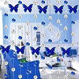 Moginp Gardinen,Vorhänge Schmetterling Kristallglas Perlen Vorhang Luxus Wohnzimmer Schlafzimmer Fenster Curtain Tür Hochzeit Dekor (A)