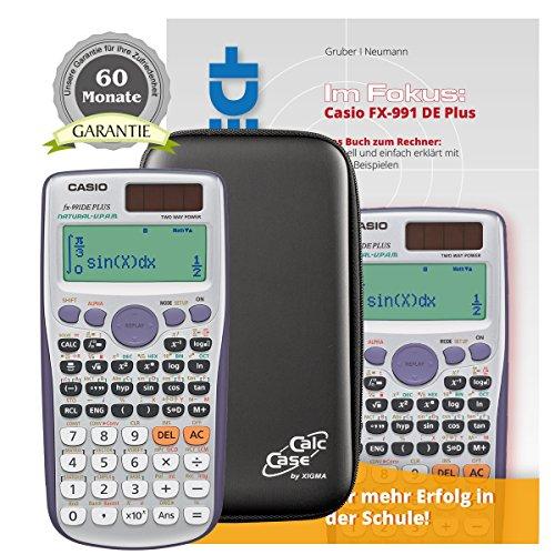 Casio FX-991 DE Plus + Original CalcCase Schutztasche + Buch Im Fokus II: Casio FX-991 DE PLUS + Garantieverlängerung auf 60 Monate