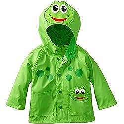 Highdas Baby Kids Rana Windproof Rainsuit Niños Chaqueta Con Capucha Verde