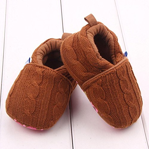 BZLine® Baby Halbschuhe Sneaker rutschfest weiche Sohle Babyschuhe Kaffee