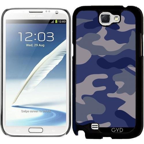 Hülle für Samsung Galaxy Note 2 (GT-N7100) - Blau Camouflagle by wamdesign