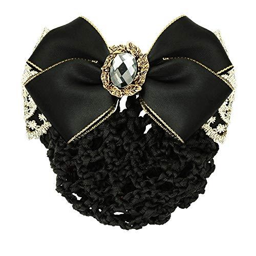 aimaoer Kopfbedeckung Haarschmuck Profi Kopf Blume Bank/Krankenschwester/Stewardess Kopf Blume Elegante Haarnadel, Schwarz 1 -