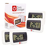 DURAGADGET **Quad-Pack** Indoor LCD Room Temperature Thermometer/Gauge With Stand And Digital Display - Perfect For Use In The Office Or At Home