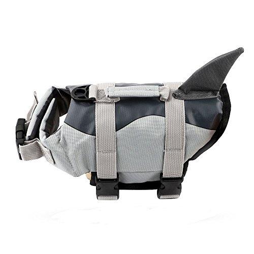 Damofy Haifisch-Art und Meerjungfrau-Art-Haustier-Schwimmweste-Hundelebensweste für Schwimmen-Erste Hilfe Schwimmende Hund Lifesaver-Jacke für Kleinen Hund