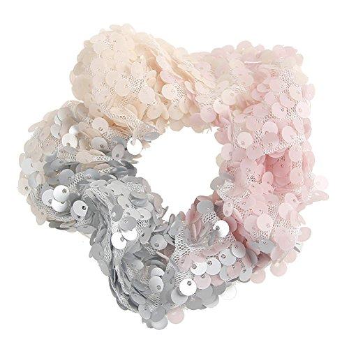 Amorar Pailletten Pferdeschwanz Scrunchie, Mädchen Frauen Fashion Mermaid elastische Haarband, handgemachte Haar Halter Haargummis Haarschmuck