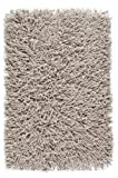 Badteppich Beige Flachs Amarillo Flokati Langflor Aquanova, Größe:60x60
