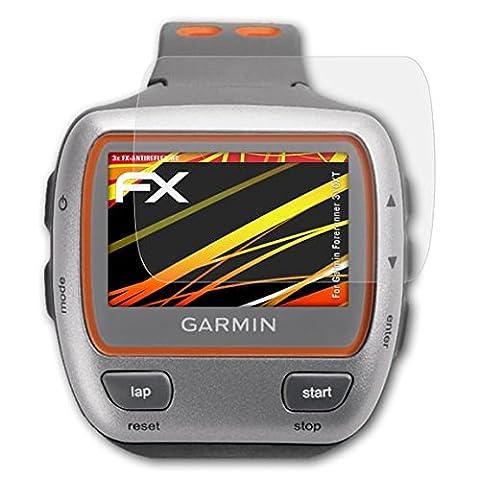 Garmin Forerunner 310XT Displayschutzfolie - 3 x atFoliX FX-Antireflex-HD hochauflösende entspiegelnde Schutzfolie (Garmin 310 Xt)