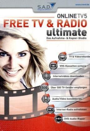 Free TV & Radio ultimate; CD-ROM Das Aufnahme- & Kopier-Studio. Für Windows 98, ME, NT4 mit Service Pack 6, 2000, 2000 Server, XP Home Edition oder Professional, Server 2003, Vista