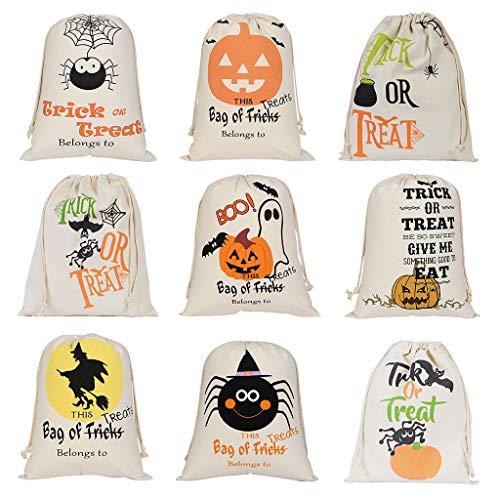 Freshsell Halloween-Tüten mit Kordelzug für Süßigkeiten und Süßigkeiten
