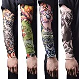 #5: Dryon Printed Driving UV Sun Protection Tattoo Arm Sleeves for Dust and Pollution Protection-(Assorted Color-1 Pair)