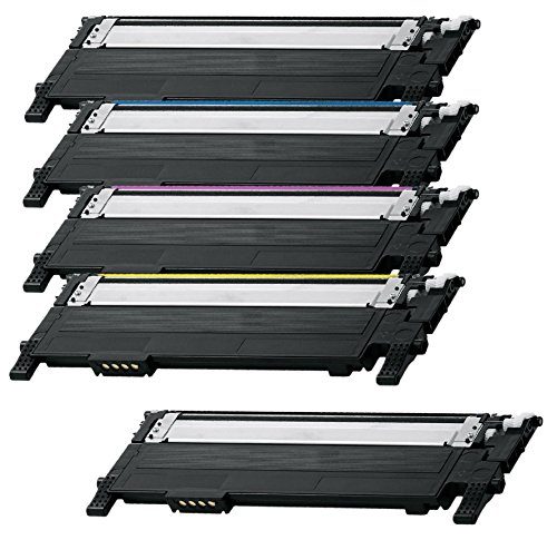 Preisvergleich Produktbild Prestige Cartridge CLT-404S 5-er Set Toner kompatibel für Samsung Xpress SL-C430W, SL-C480FW, SL-C480W, SL-C480FN
