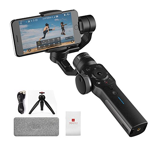 Zhiyun Smooth-4 3-Axis Handheld Gimbal Stabilizer for iPhone X 8 7 Plus 6 Plus Focus Pull & Zoom Capability,Phonego Mode For Instant Scene...