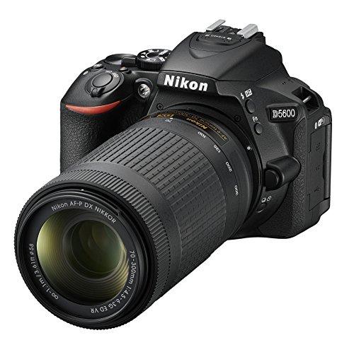Nikon D5600 + AF-P 18-55 VR + AF-P 70-300 VR Kit de Reflex numérique 24,2 Mpix Noir