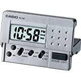 Casio PQ10D-8 LED Digital Travel Clock, Silver