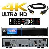 GigaBlue UHD Quad 4K 2X FBC DVB-S2 Tuner 1x Dual DVB-S2X Tuner Ultra HD E2 Linux Receiver PVR Ready