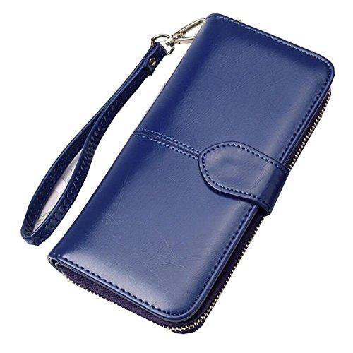 Jia Qing Ladies PU Twists And Turns Leather Zipper Portefeuille à Grande Porte Portefeuille Porte-monnaie