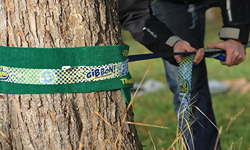 Gibbon Slacklines Set Fun Line 15 m lang, 5 cm breit + Baumschutz - 6