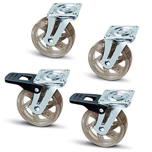 """Esta SO-TECH Rueda de mueble """"SHIFT"""" es una rueda de alta calidad de poliuretano. La caja esta de fabricada de una chapa de acero con un rodamiento de bolas en una corona giratoria.  - Transformación de alta calidad - Diseño moderno - Diamtero de la ..."""
