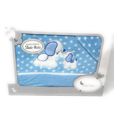 Interbaby-Sabanas invierno Coralina Coche - Capazo- (bajera+encimera+funda almohada) - Danielstore (Perrito azul)