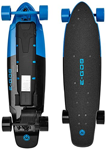 Yuneec EGO2: Royal Wave-E-Longboard EU Skateboard électrique Mixte Adulte, Bleu