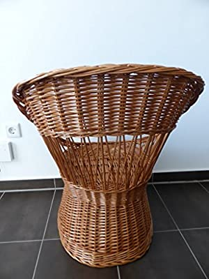 Natur Rattan Korbstuhl Stuhl Rattanstuhl Wintergartenmöbel von NN auf Gartenmöbel von Du und Dein Garten