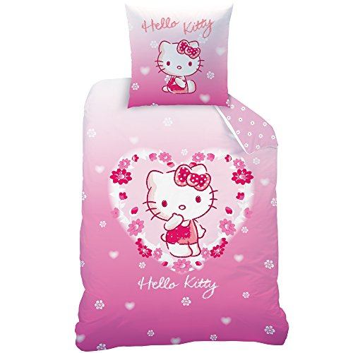 Hello Kitty 044118 Adeline de cama, algodón renforce, 20 x 135 x 200 cm