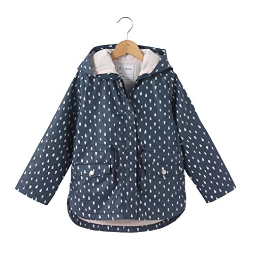 La redoute collections bambina giacca anti vento con cappuccio fantasia gocce