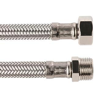 Sanitop-Wingenroth 19378 8 Anschluss eines Wasserhahnes Flexschlauch | Verbindungsschlauch | Anschlussschlauch Armatur, 3/8 x 3/8 Zoll x 1000 mm | Armaturenschlauch