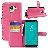 Lapinette Schutzhülle Wallet-Etui für Samsung-Galaxy J6 + Folie rosa