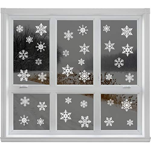 Articlings  2847279, 42 Original Snowflake Window Clings Fabulous Static PVC Stickers