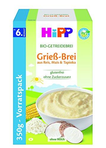 Hipp Bio-Getreide-Breie; Grieß-Brei, 4er Pack (4 x 350 g)