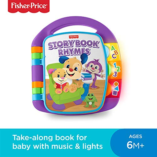 Fisher-Price M064826 Laugh and Learn Story, Rhymes, Electronic Educational Toddler Baby Book Toy with Words, Letters and Numbers, Suitable for 6 Months Plus