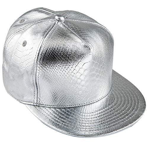 KYEYGWO Unisex Hip Hop Kappe, Snapback Caps Mütze für Herren und Damen Verstellbar Flat Brim Baseball Cap (Hip Hop Tanz Kostüm Männer)
