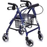 Lxn Old Man Walker/Einkaufswagen/Trolley Aluminiumlegierung Flaschenzug mit Seat Collapsible Walking Bracket