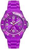 ICE-Watch - Montre Mixte - Quartz Analogique - Ice-Forever - Purple - Unisex - Cadran Violet - Bracelet Silicone Violet - SI.PE.U.S.09