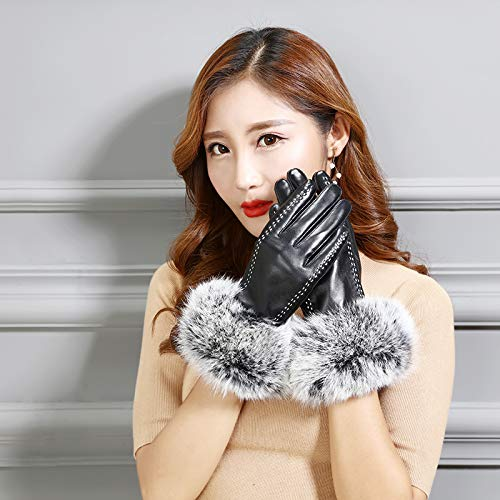 51%2B1gVmwfcL. SS500  - Q_STZP Gloves glove mitten Leather gloves ladies touch screen autumn and winter warm waterproof windproof cycling motorcycle riding plus velvet thick gloves