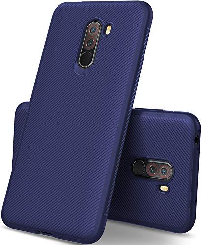 iBetter Xiaomi Pocophone F1 Cover, Xiaomi Pocophone F1 Custodia, Xiaomi Pocophone F1 protettiva Cover Protezione durevole, Compatibilita esatta per la Xiaomi Pocophone F1 Smartphone.(Blu)