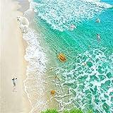 Steaean Steaean PVC-Wasserdichte Selbstklebende Tapete 3D des Bodens des Strandes 3D Der Modernen Welle des Meeres 3D, 400 * 280Cm