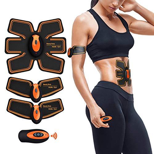 Electroestimulador Muscular Abdominales Cinturón,Estimulador Abdominal Aparatos Para Adelgazar Maquina Abdominales,Entrenador Portátil Masajeador Eléctrico Cinturón EMS Estimulador Muscular Abdominales Brazo Pierna Cintura Fitness Training Gear Para Hombre o Mujer