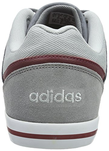 adidas NEO Herren Cacity Sneakers Grau (Grey/Clear Onix/Power Red)