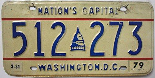 US Nummernschild DC WASHINGTON D.C. Kennzeichen # USA License Plate # KFZ Blechschild