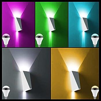 Magichue Neu Farbige Leuchtmittel Sunset Smart Led Bluetooth Lampe Dimmbar Sonnenuntergang E27 Und E26 16 Mio Farben Fuer Android Und Ios (6w Farben Lampe+3w Speaker) 1