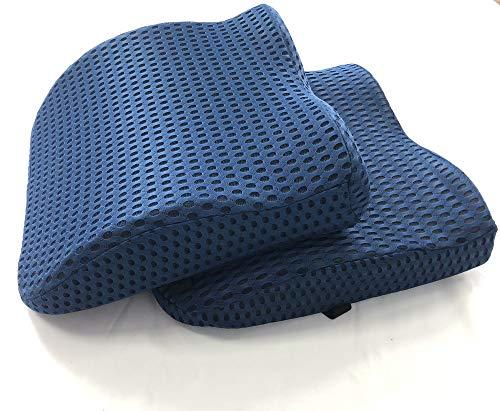 BLUE MOON ergonomisches Rückenkissen Sitzkissen Lendenkissen Autokissen Reisekissen, zur Linderung von Rückenbeschwerden, verbessert die Haltung!
