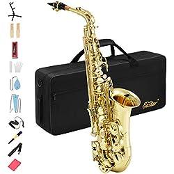 Eastar AS-II Commander Saxophone Alto Mi Bémol pour Débutants et Intermédiaires