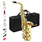 Eastar AS-Ⅱ Alt Saxophon Student Lackiertes Goldenes E Flache mit...