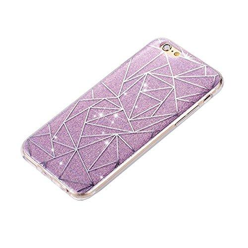 iPhone 7 Hülle Silikon,iPhone 7 Hülle Glitzer,iPhone 7 Crystal TPU Bumper Case Soft Transparent Silikon Gel Schutzhülle Cover,iPhone 7 Hülle (4.7 Zoll) Cristall,EMAXELERS iPhone 7 Bling Cristall Diama TPU 41